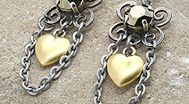 Floral Drop earring bases with heart charm