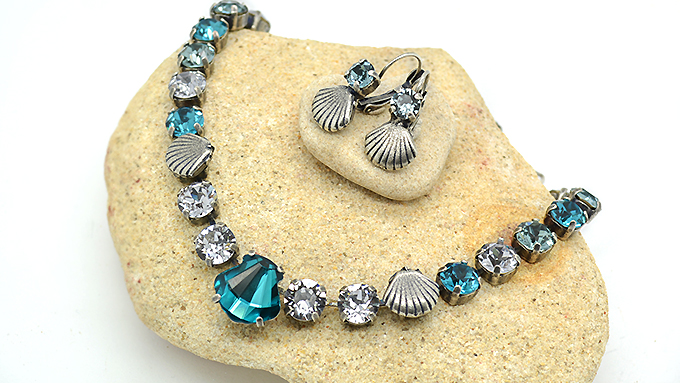 Sea Elements Necklace and earrings