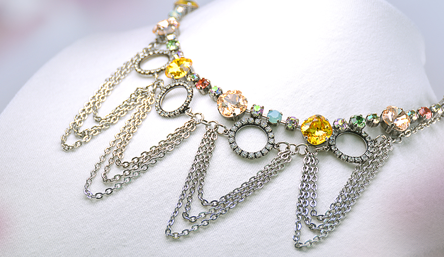 Combined chains necklace