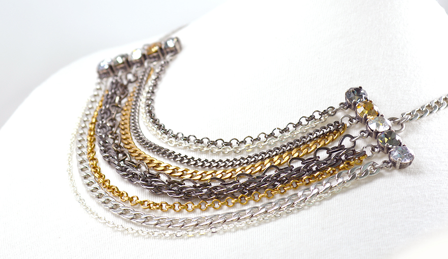 Metal chains necklace