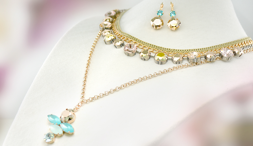 Rose gold and turquoise set