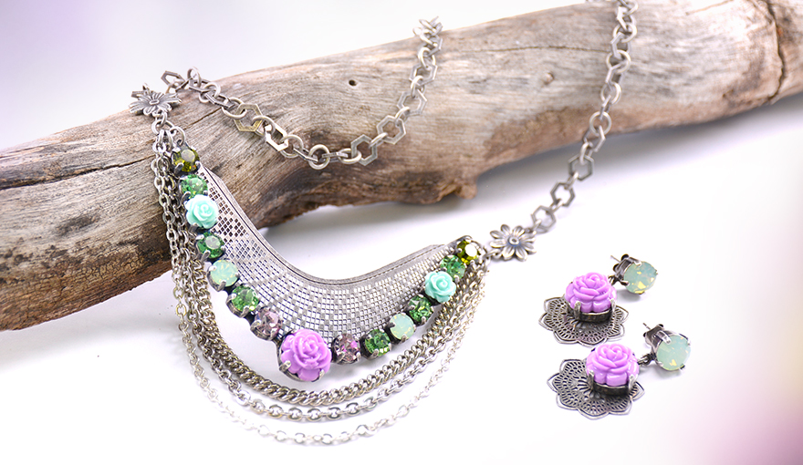 Flowers and metal set
