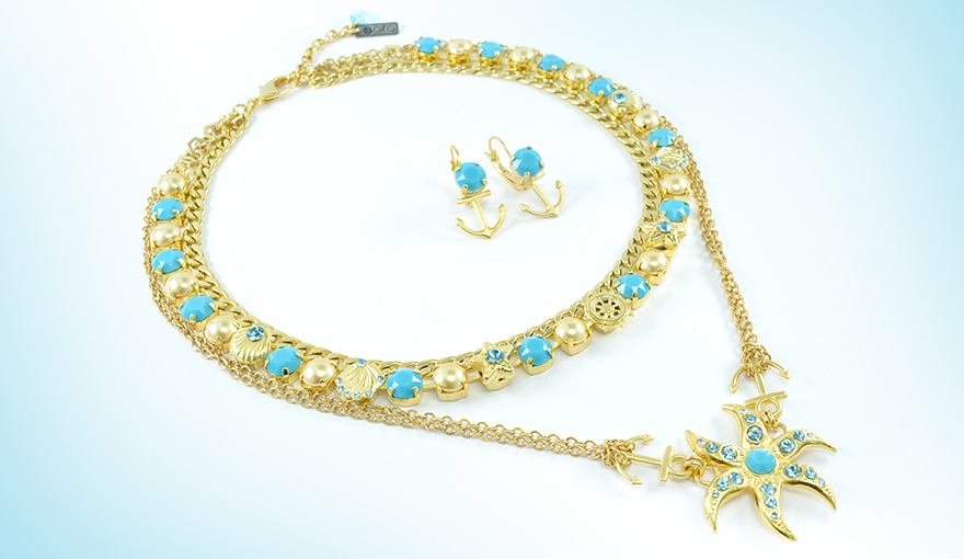 Necklace with sea elements tutorial