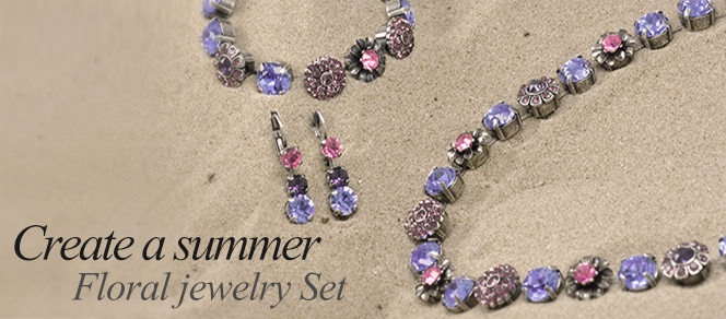 Create a summer Floral Jewelry Set