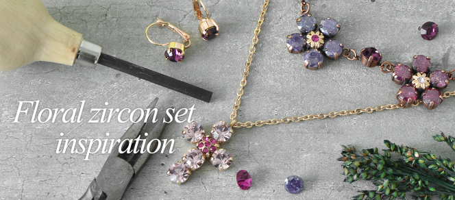 Floral jewelry set with zircons inspiration