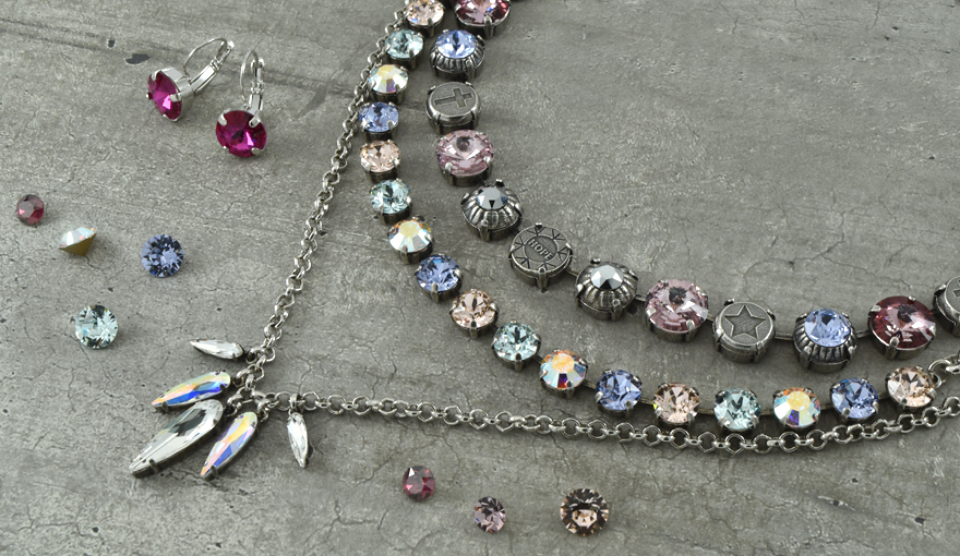 Meaning elements & SW crystals necklace inspiration