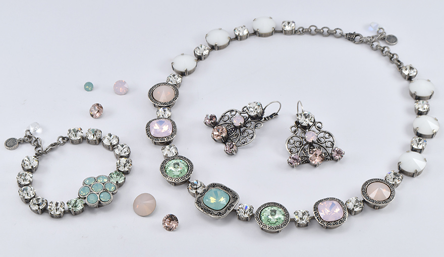 Pastel crystals jewelry inspiration