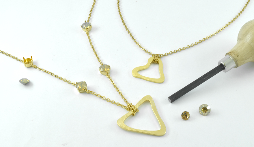 Gold Metal jewelry connectors inspiration