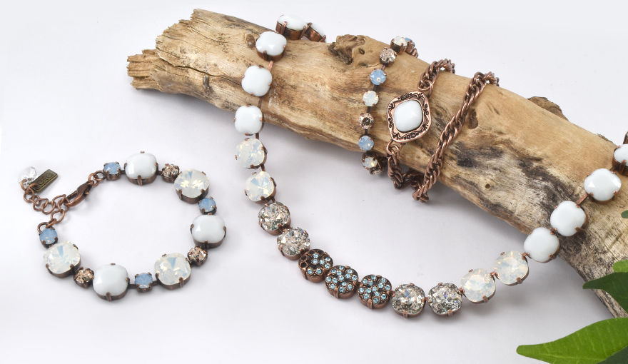 White Opal and Aquamarine crystals jewelry inspirations
