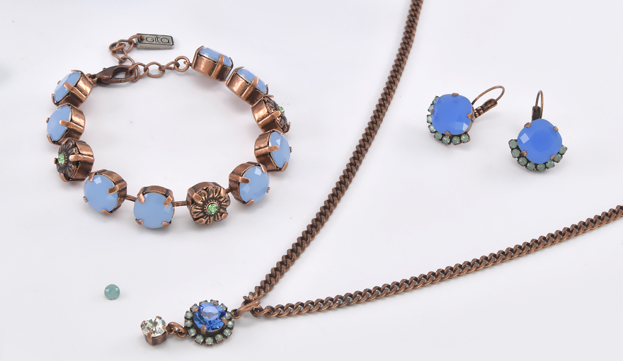 Shades of blue 47ss copper set inspiration