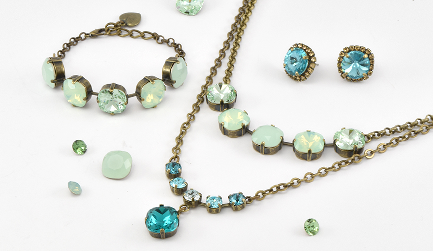 Ocean crystal color jewelry inspiration