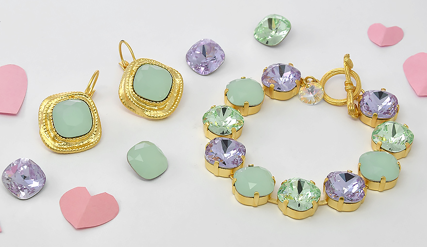 Gold  & Happy Pastel colors, jewelry inspiration