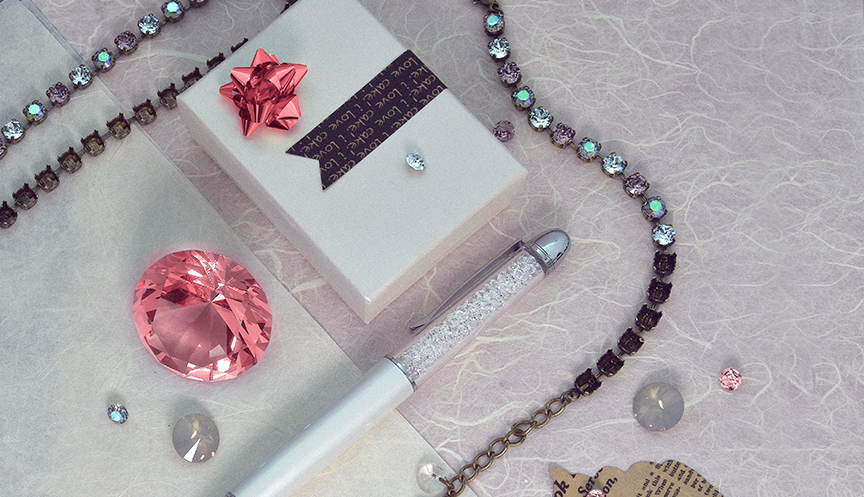 Paradise crystal colors jewelry set