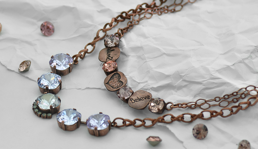 Antique copper plated necklaces inspiration