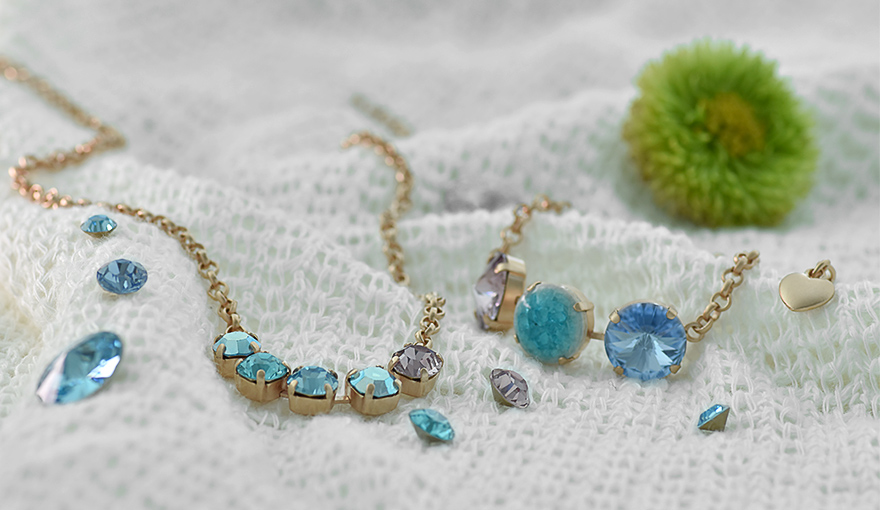 Turquoise glass cabochons inspiration
