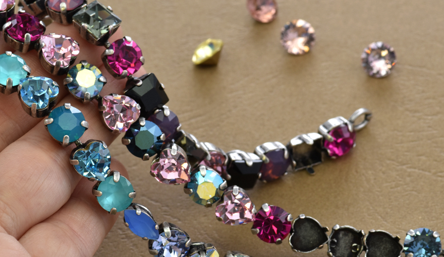 Special cup chain bracelet bases for 39ss Swarovski crystals