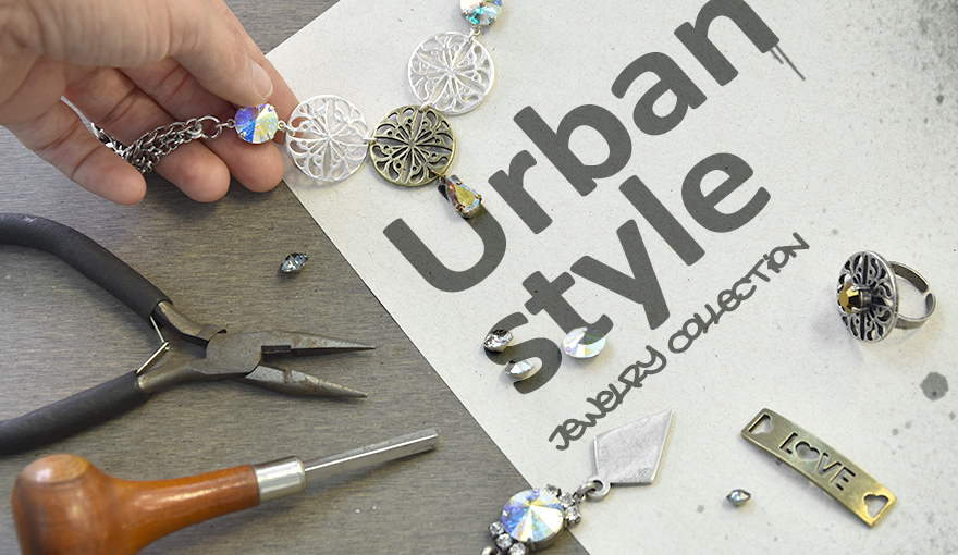 Creating a jewelry collection with a metallic urban look
