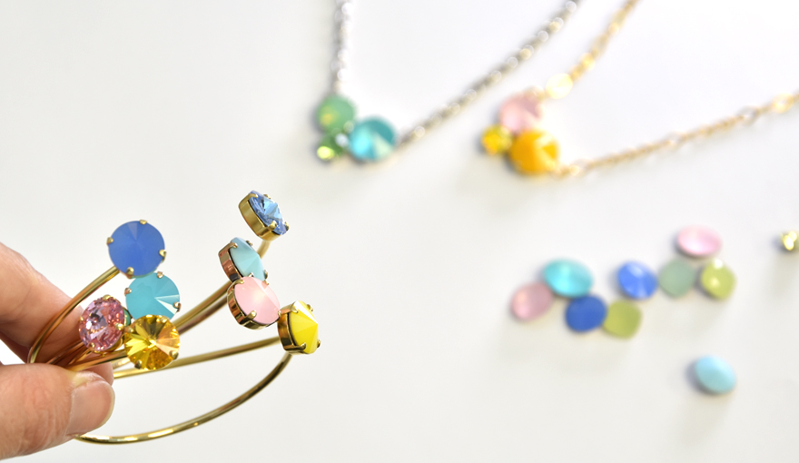Colorful glass stones, jewelry inspiration