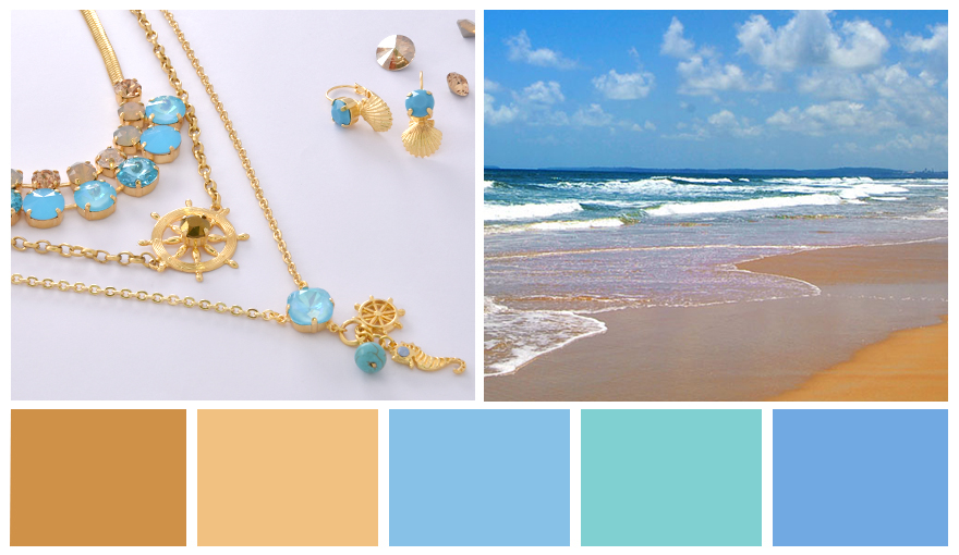 Golden sands & Turquoise water inspiration colors