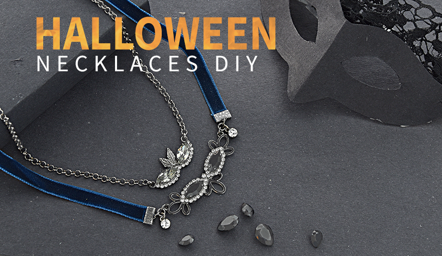Creating Halloween dramatic & beautiful necklaces