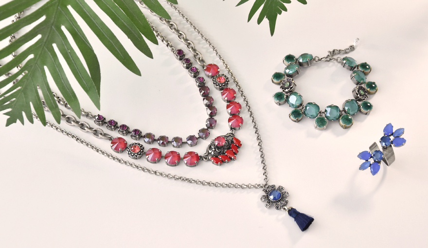 Color block jewelry inspiration with the new Swarovski crystals