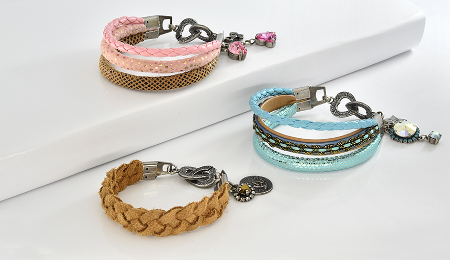 Wide leather necklace and bracelet jewelry tutorial
