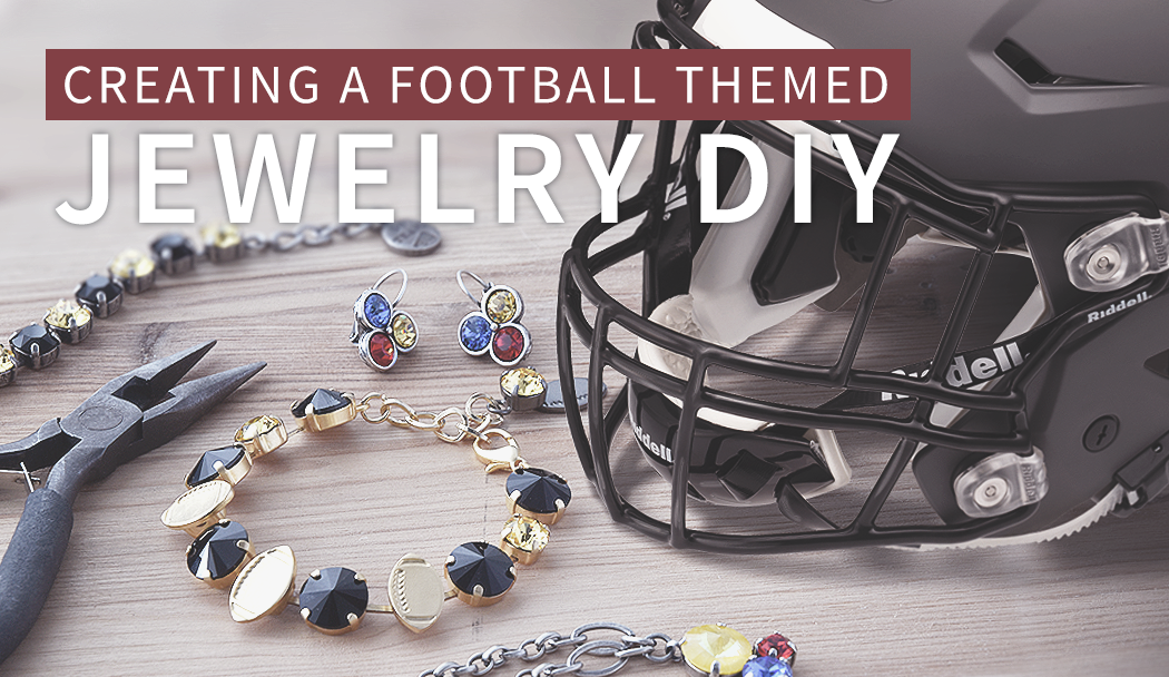 Creating a football themed jewelry DIY