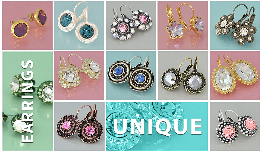 Gita's unique earring bases for SW crystals